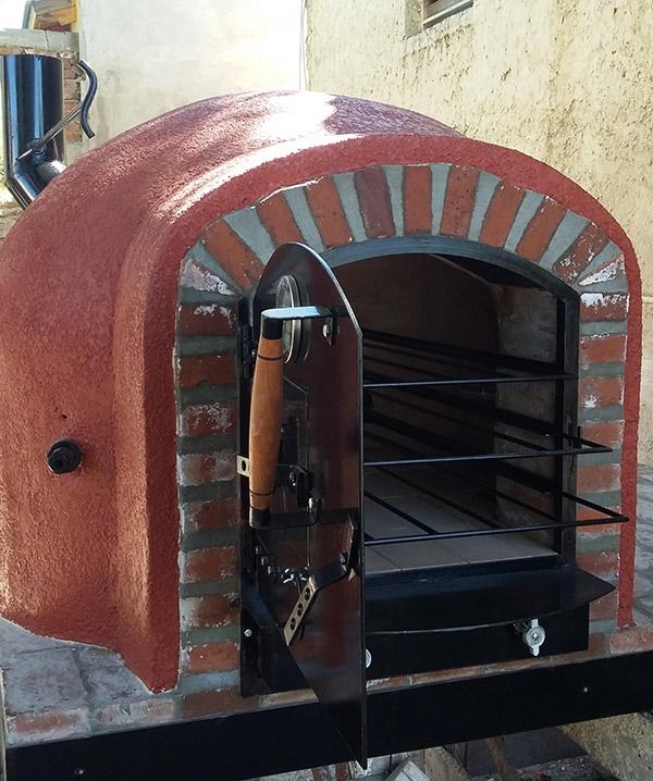 Hornos de barro a le a y a gas artesanales tatacu horno for Como hacer un horno de lena de hierro